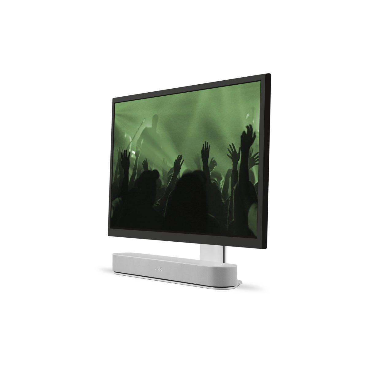 Sonos Beam verstelbare tv standaard wit 2