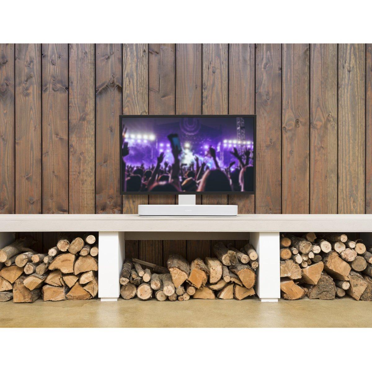 Sonos Beam verstelbare tv standaard wit 4